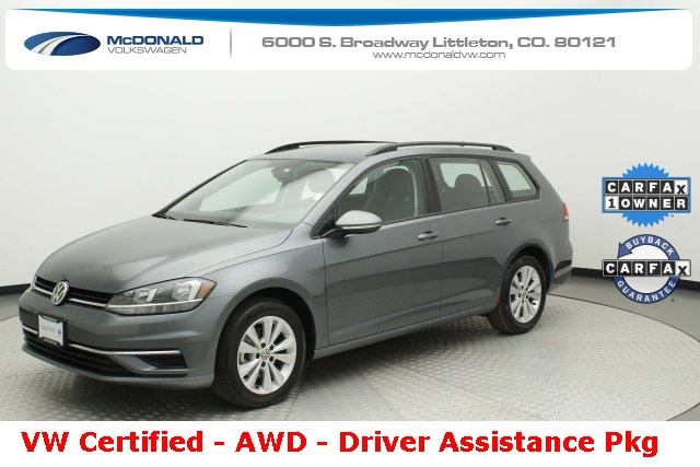 Certified Pre-Owned 2019 Volkswagen Golf SportWagen S